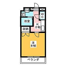 ヴィラコンテッサ中田[2階]の間取り
