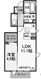 (仮称)D-room小川 A棟[1階]の間取り