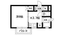 ステラハウス28[1階]の間取り