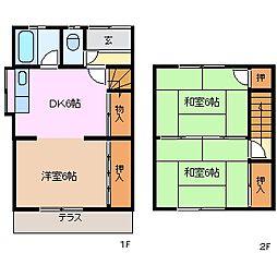 [テラスハウス] 三重県四日市市西富田町 の賃貸【/】の間取り