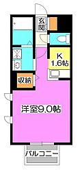 東京都練馬区高松5丁目の賃貸アパートの間取り