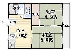 コーポ南寺方[1階]の間取り