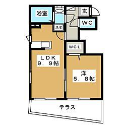 東急東横線 学芸大学駅 徒歩3分の賃貸アパート 1階1LDKの間取り