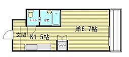 広島県広島市南区段原1丁目の賃貸マンションの間取り