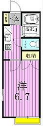 コスミオン東松戸[1階]の間取り