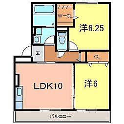 立志舎[301号室]の間取り