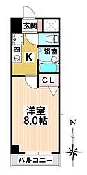 愛知県名古屋市南区霞町の賃貸マンションの間取り