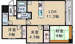 アーデンタワー新町[4階]の間取り