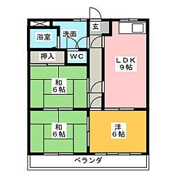 サンコーポジュネ[3階]の間取り
