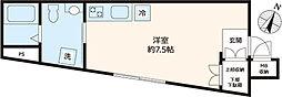 東京メトロ南北線 東大前駅 徒歩3分の賃貸アパート 1階ワンルームの間取り