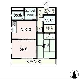 滋賀県大津市鳥居川町の賃貸アパートの間取り