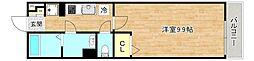 京阪本線 千林駅 徒歩2分の賃貸マンション 2階1Kの間取り