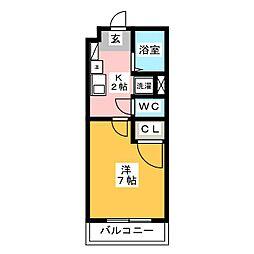箱崎西城コーポ[3階]の間取り