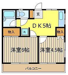 前谷マンション[3階]の間取り