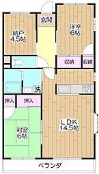 都民住宅アーバンコートタカサ[201号室]の間取り