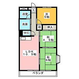 ハイネスマツウラ[4階]の間取り