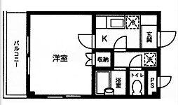 神奈川県横浜市神奈川区神奈川本町の賃貸マンションの間取り