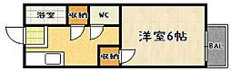 ハイツ澤田[208号室]の間取り