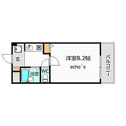 フルートファル・シード[2階]の間取り