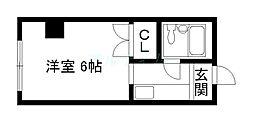 京都府京都市東山区上新シ町の賃貸マンションの間取り