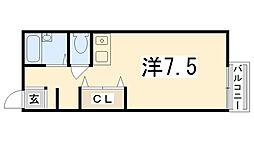 アドバンスコーポ北条[1階]の間取り