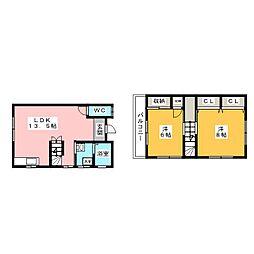 [テラスハウス] 静岡県袋井市山科 の賃貸【/】の間取り