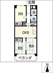 第2グリーンマンションHATTORI[3階]の間取り