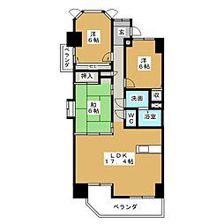 ラルゴ白壁[4階]の間取り