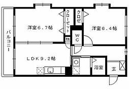プロスペールSV[5階]の間取り