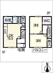[タウンハウス] 愛知県北名古屋市二子屋敷 の賃貸【愛知県 / 北名古屋市】の間取り