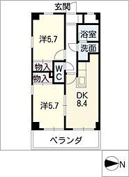 AMBER HOUSE[8階]の間取り