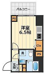JR中央線 豊田駅 徒歩2分の賃貸マンション 11階1Kの間取り