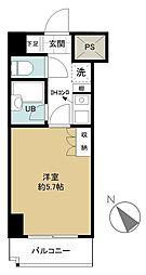 スカイコート日本橋人形町第2[5階]の間取り