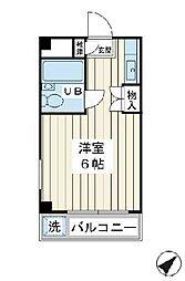 ドエル富士見[1階]の間取り