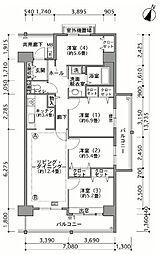 幕張ベイタウン ミラマール[3階]の間取り