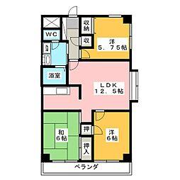 太田リッチコンドミニアム[3階]の間取り
