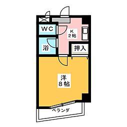 メーポール武藤[4階]の間取り