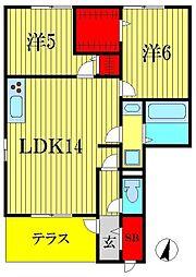 ルガーナ グランデ[1階]の間取り