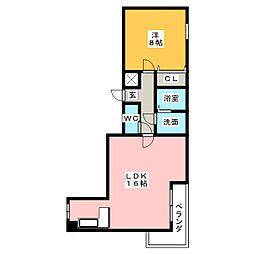 サン チヨダ[5階]の間取り