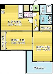 Felt515(フェルト515)[3階]の間取り