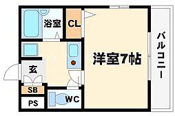 シティーライト江坂[2階]の間取り