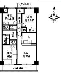 サンドマーニ弐号館[1階]の間取り