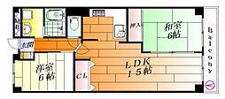 日興千里台スカイタウン[3階]の間取り