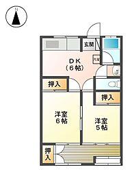 マンション大曽根[6階]の間取り