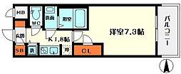 エスレジデンス野江[7階]の間取り