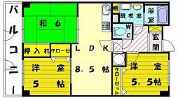 ロワールマンション和白5[2階]の間取り