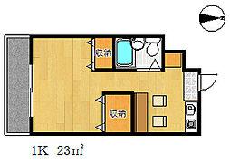 山海マンション[3階]の間取り