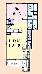 フォーリストパーク[1階]の間取り