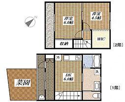 柿の家荘[3号室]の間取り