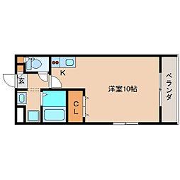 静岡県静岡市清水区折戸の賃貸マンションの間取り